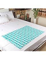 MOSGARD- Mosquito Repellent Blanket (SeaBlue Leaves-S)