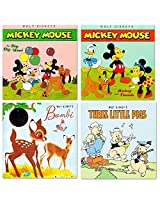 "Disney ""My First Books"" Set Of 4 Baby Toddler Storybooks (Vintage Disney Classic Storybook Collection Featuring Mickey Mouse, Minnie Mouse, Bambi And The Three Little Pigs)"