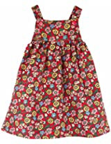 Snuggles Dungaree with Multi Print - Red/Multi Color (18-24M)