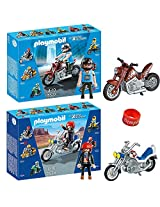 Playmobil Road Cruiser And Superbike With Dimple Ring