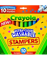 Crayola 10-Count Ultra Clean Expression Stamper Markers
