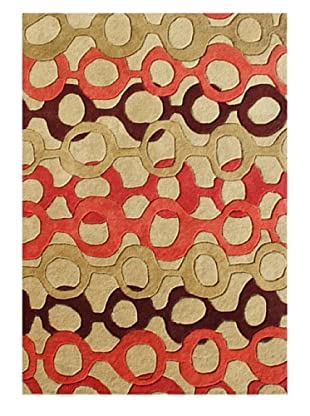 Horizon Rugs New Zealand Wool Rug (Straw/Camellia Multi)
