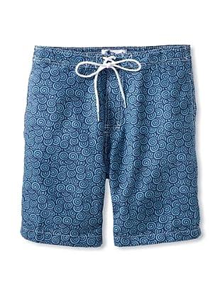 Trunks Men's Swami Board Shorts (Swirly Navy)