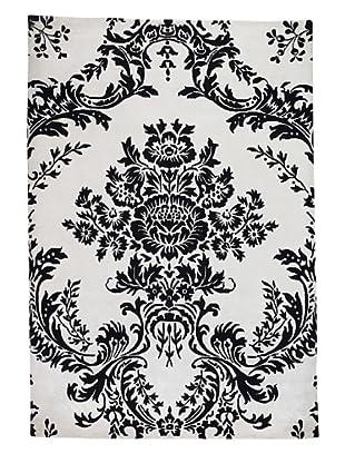Kavi Handwoven Rugs Flocked Rug (Black/White)
