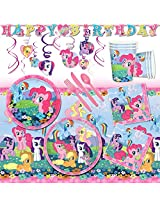 Deluxe My Little Pony Childrens Birthday Party Pack Decoration Kit For 16