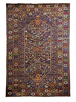 Darya Rugs Tribal One-of-a-Kind Rug, Navy, 6' 10