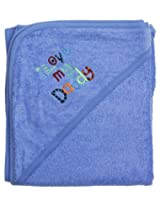 Extra Large 40 x30 Absorbent Hooded Towel I Love My Daddy (Medium Blue) Frenchie Mini Couture