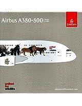 "Gemgj1550 1:400 Gemini Jets Emirates Airbus A380 800 ""Wildlife #1"" Reg #A6 Eei (Pre Painted/Pre Built)"