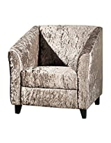 Amey Lisa One Seater Sofa in Silver Grey Fabric