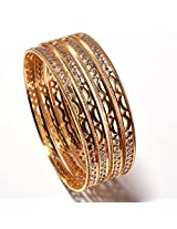 AD bangles gold look high quality one gram Gold plated handmade real bangles
