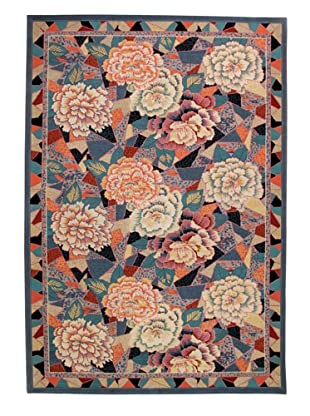 Roubini Mosaic Garden Two-Hand Knotted Wool Rug, Multi, 6' x 9'
