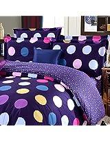 3 Or 4pcs Polyester Fiber Dot Paint Printing Bedding Set Pillowcase Quilt Duvet Cover