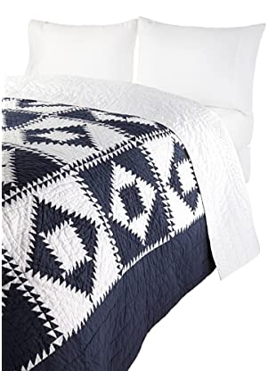Amity Home Logan Patchwork Quilt (Navy)