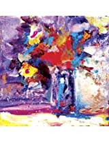 Faim Paintings Abstract Art Flower Canvas Print 22x22 Frameless