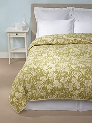 Tommy Bahama Plantation Floral Quilt (Lime)