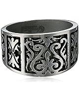 Edward Mirell 16mm Gray Titanium Flat Heritage Men's Ring, Size 12