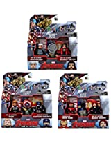 Marvel Avengers Age of Ultron Exclusive Minimates Series Thor Captain America Iron Man Scarlet Witch Quicksilver & Black Widow