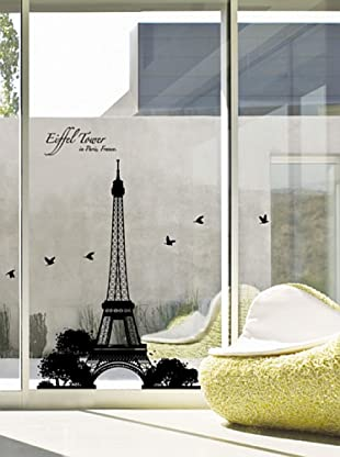 Vinilo Torre Eiffel Negro