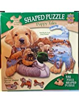 Masterpieces 550 Pieces Shaped Jigsaw Puzzle - Puppy Tales