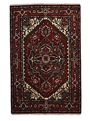 Darya Rugs Traditional Oriental Rug, Red, 4' x 6' 1