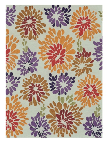 Loloi Rugs Aurora Collection Rug (Multi/Floral)