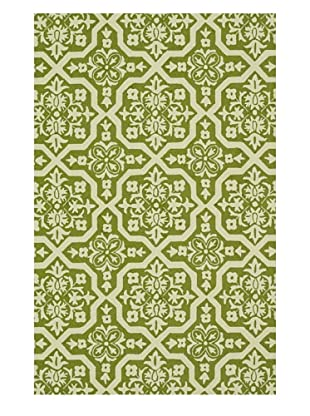 Venice Beach Indoor/Outdoor Rug (Peridot/Ivory)
