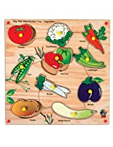Skillofun Kingsize Identification Tray Vegetables with Knobs, Multi Color