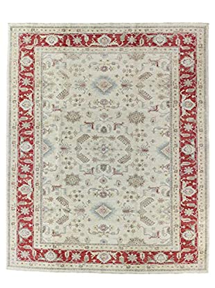 Bashian Rugs One-of-a-Kind Hand Knotted Mansehra Rug, Ivory, 8' x 9' 9