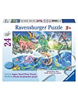 Ravensburger Land and Sea Dinos Floor Puzzle (24 Piece)