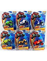 Fisher Price Nickelodeon Blaze And The Monster Machines Blaze Stripes Basic Vehicle Set: Blaze, Stripes, Crusher, Pickle, Zeg, And Darrington