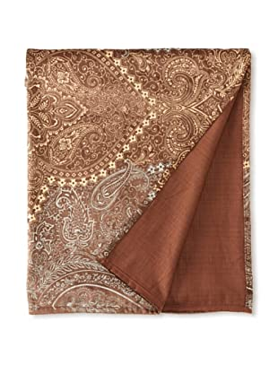 Filling Spaces Jayne Throw, Chocolate/Gold/Silver, 50