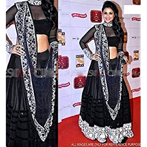 Black Lehenga Choli Worn By Parineeti Chopra (Bollywood Replica)