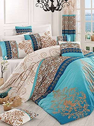 Colors Couture Bettdecke und Kissenbezug Katre