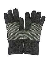 Graceway Unisex Woollen Gloves (GL3, Grey, Free Size)