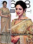 Sridevi in beautiful Golden designer embroidery net saree