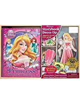 Disney Princess Sleeping Beauty Storybook Dress Up Magnetic Wooden Doll Set 50 Pieces