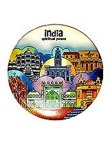 Indiavibes Designer Badge with Spiritual Peace 1 Theme
