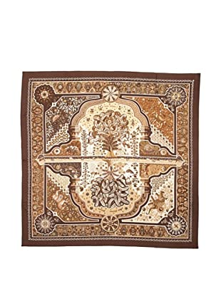 Hermes Women's Carre Scarf, Brown\/Tan