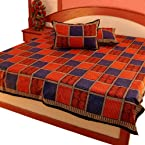 Little India Pure Cotton Double Bed Sheet Home Furnishing Pure Cotton Bedsheet - DLI3DBS302