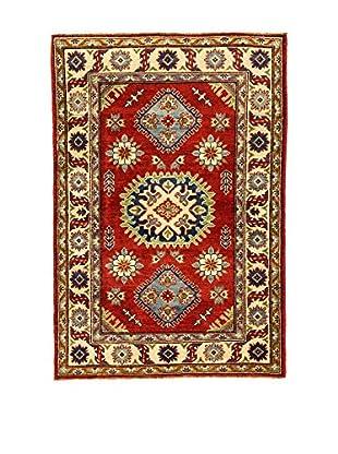 L'Eden del Tappeto Teppich Uzebekistan Super rot/beige 147t x t100 cm
