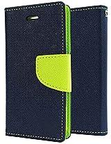 Fancy Wallet Flip Case Cover folio for Sony Xperia Z4 - Blue green