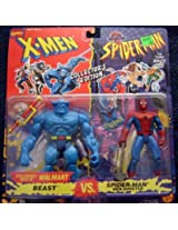 X Men Vs. Spider Man Exclusive Collectors Edition 2 Pack: Beast Vs. Spider Man (Web Shooter)