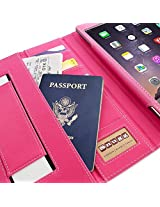 Snugg™ iPad Air 2 Case - Executive Smart Cover With Card Slots & Lifetime Guarantee (Hot Pink Leather) for Apple iPad Air 2 (2014)