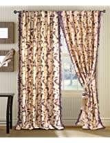 Deco Window Curtain Jasmine Chocolate/Amethyst/Gold 9 ft Long Door