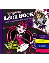 Monster High Look Book Sticker Stylist Stencils Color Design New Hardcover 40pg.