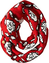 Betsey Johnson Women's Vintage Rose Infinity Bright Red Scarf One Size