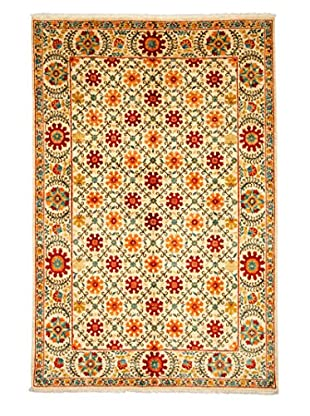 Solo Rugs Suzani Hand-Knotted Rug, Ivory Orange, 6' 1