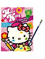 Hello Kitty Paint With Water Book with Green-Tip Paint Brush