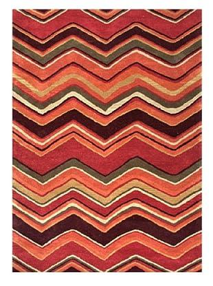 Jaipur Rugs Hand-Tufted Geometric Rug (Red/Orange)