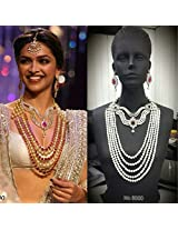 Bollywood Replica Pearl Studded Bridal Long Necklace Set